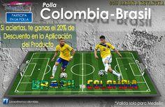 Gran Polla MUNDIALISTA ! ! ! Participa hoy, acierta en la polla del Partido Colombia-Brasil, y te REGALAMOS el 20% de descuento en la Aplicación de Nuestro Producto  - Valido Solo para Medellin - #lisoextremocolombia