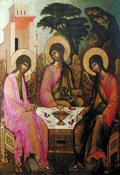 Icons of the Holy Trinity. Ilya Fillipov. Troitsa (The Holy Trinity). 1685. Perm Art Gallery