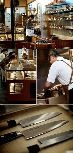 Aritsugu Knives are some of the best knives in the world. Find them in Nigishi Market in Kyoto. V