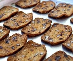 Rosemary Raisin Pecan Crisps. These are so good with cream cheese and Stonewall Kitchen Sweet Chili Jam.
