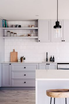 grey kitchen. THREE BIRDS RENOVATIONS | NESTING IN NORTHMEAD | RENO 4 |