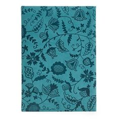 Turquoise Floral Journal...to record all those great things you did this summer..#indigo #perfectsummer
