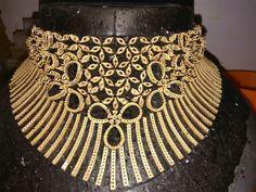 Diamond Jewelry, Gemstone Jewelry, Gold Jewelry, Gold Necklace, Bracelet Designs, Necklace Designs, Bollywood Jewelry, Jewellery Sketches, India Jewelry