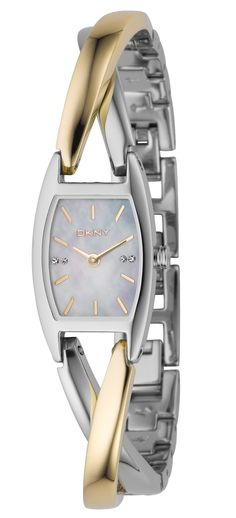 DKNY Women's Watch, Two Tone Stainless Steel Twist Bracelet - Women's Watches - Jewelry & Watches - Macy's Must Have Items, Bangles, Bracelets, Donna Karan, Jewelry Watches, Women's Watches, Bracelet Watch, Personal Style, Fashion Jewelry
