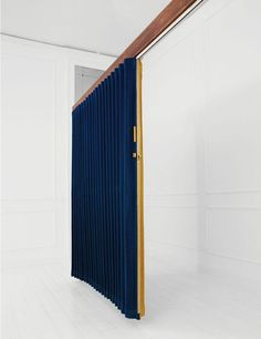 room divider, blue velvet curtain divider