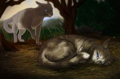 Sisterly love, Dovepaw and Ivypaw when they fell. Warrior Cats Series, Warrior Cats Books, Warrior Cats Art, Cat Anatomy, Love Warriors, Comic, Fan Art, Star Citizen, Cat Drawing
