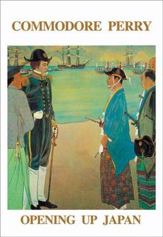 Commodore perry - opening up japan 20x30 poster