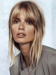 Julia Stegner with a soft fringe | Image via girlsgonehair.com