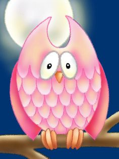 'Pink Owl' by Gina Graham