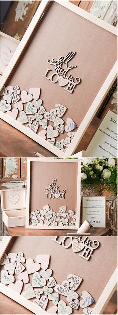 All you need is love! We love this unique wedding guest book from @4LOVEPolkaDots