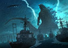 godzilla king of monsters All Godzilla Monsters, Godzilla Comics, Godzilla Franchise, Monster Verse, Anime Fantasy, Fantasy Art, Original Godzilla, Godzilla Wallpaper, Old Posters