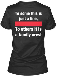 Thin Red Line Firefighter Family Crest Wife by LEOFamiliesUnite