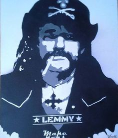 Lemmy Kilmister Rock n Roll Stencil Art Spray Graffiti PopArt MAKE KOKS