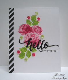 Gorgeous card created by Lin for the Simon Says Stamp Wednesday challenge (Sparkle and Shine)