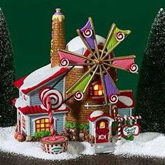 Home made ginger bread house with a windmill.