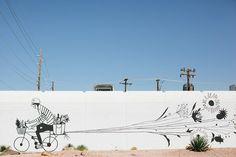 street art, Carrie Marill, Roosevelt Row, Phoenix, Arizona, USA.