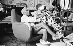 Inside the French home of Pablo Picasso. Picasso loved dogs.