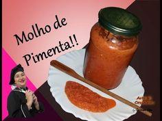 Molho de Pimenta Caseiro - Divino! Fácil e Saboroso! - YouTube Pasta, Hot Sauce Bottles, Cantaloupe, Spices, Fruit, Recipes, Survival Skills, Youtube, Foods