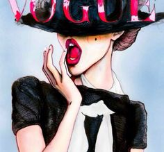 Vogue. cool how you cant see her face, the girl is very well done