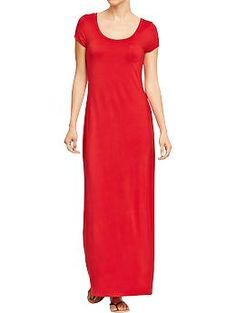 Petite Women's Maxi Tee Dresses   Old Navy Even petite momma's wanna wear a cute maxi dress and this one is pleasingly modest.