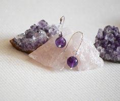 Purple Love, Chevron, Handmade Jewelry, Earrings, Crystal, Ear Rings, Stud Earrings, Handmade Jewellery, Ear Piercings