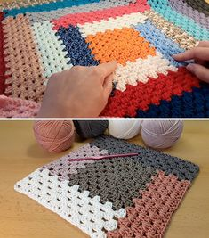 Crochet Granny Pattern Blanket Sided - This tutorial will walk you through a beautiful crochet granny pattern blanket! This stitch makes the most unique texture of any pattern I have encountered! Modern Crochet Patterns, Granny Square Crochet Pattern, Crochet Stitches Patterns, Knitting Patterns, Granny Square Afghan, Knit Stitches, Granny Squares, Crochet Quilt, Free Crochet