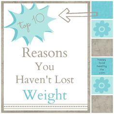 Top 10 Reasons Why You Havent Lost Weight // Happy Food Healthy Life