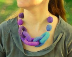 Galaxy Chain Link Necklace by HandiCraftKate
