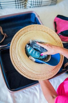 How To Pack a Hat - Heading out of town & looking to bring your hat? We've got some tips & tricks to help you pack it safely! | #HiSugarplum #PackingTips #PackingHacks #HowToPack #WhatToWear #TravelTips #OOTD
