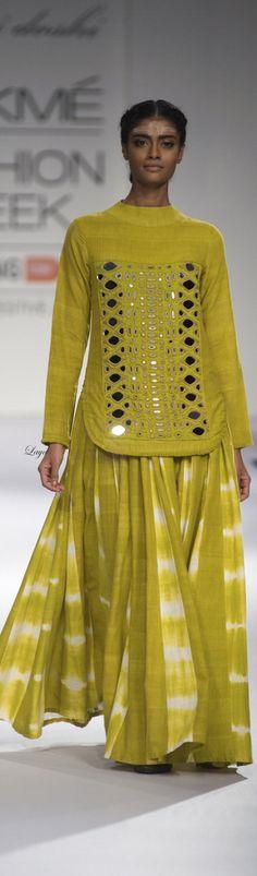 0bde3bca91 Purvi Doshi -Lakme Fashion Week Fall/Winter 2014-15. Harsha Zala · mirror  work kurti