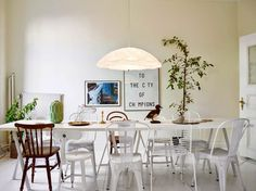 White Swedish apartment with great art
