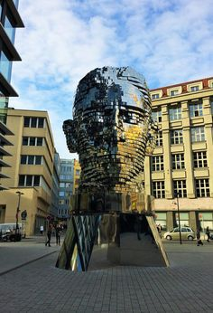 Kafka statue, Prague