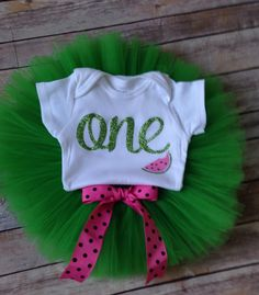 Watermelon Birthday Outfit/Watermelon 1st Birthday Outfit/First Birthday One outfit/First Birthday Watermelon outfit by BespokedCo on Etsy https://www.etsy.com/listing/233118867/watermelon-birthday-outfitwatermelon-1st