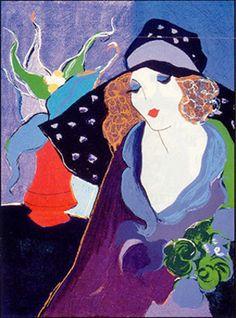 "Itzchak Tarkay (Israeli, 1935 - 2012) ""Babette"""
