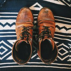 redwingshoestoreamsterdam: Follow up from yesterday: I was completely blown away by the patina of these boots! This incredible pair of 8111 Iron Rangers in Amber Harness belongs to the double denim @kentansg #redwingstyle @redwingamsterdam. http://ift.tt/1ptEBOY