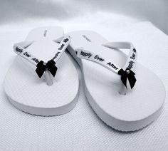 Happily Ever After Bridal Flip Flops