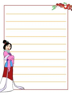 Mulan A little 3x4inch journal card to brighten up your holiday scrapbook!