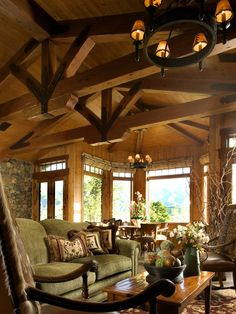 Living Room Mountain Lodge Feel Design, Pictures, Remodel, Decor and Ideas - page 2