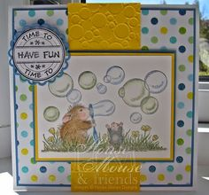 House-Mouse & Friends Monday Challenge: House-Mouse Challenge #HMFMC193 - Dotty For DOTS!