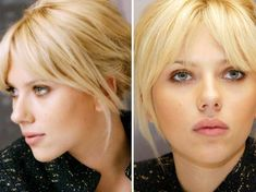 Beauty & Gibberish: Tutorial: The right gestures to cut one's bangs oneself Hair Inspo, Hair Inspiration, Scarlett Johansson Hairstyle, Medium Hair Styles, Short Hair Styles, Dream Hair, Hair Today, Hairstyles With Bangs, Hair Dos