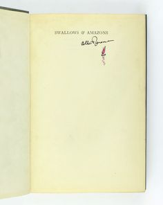 Swallows and Amazons, Arthur Ransome, Signed First Edition