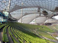 Munich Olympic Stadium by Frei and Schlaich