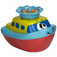 Fountain Float by Alex. $11.99. A little spray boat and that provides a whole fountain of fun!  Water-activated. Just drop in the tub and watch it spin, float and spray. Requires 2 AAA (R3) batteries (included).