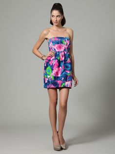 Cotton Silk Tulip Dress by Shoshanna on Gilt