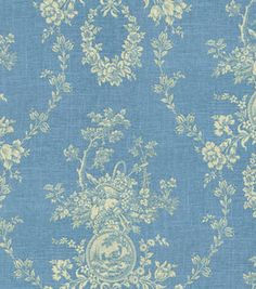 Home Decor Print Fabric-Waverly Country House Toile Dill Waverly Wallpaper, Fabric Wallpaper, Waverly Fabric, Drapery Fabric, Curtains, Linen Fabric, French Fabric, Retro Fabric, Joann Fabrics