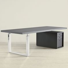 GUBI GO-DESK Master Table modern desk with file cabinet storage. http://www.suiteny.com/product/search_detail/1134