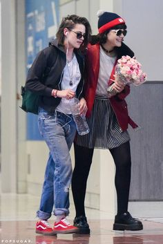 Kristen Stewart Gets a Romantic Surprise From Soko as She Touches Down in , March 2016