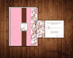Cherry Blossom Wedding Invitations Wedding by catharynne on Etsy