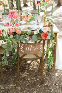Mr and Mrs Chair Signs - Wooden Wedding Signs