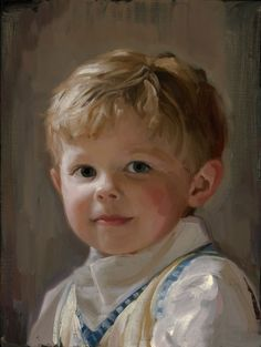 Oil portrait Little brother                              …